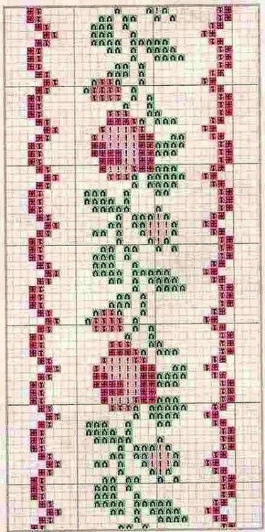 Little rose border cross stitch chart