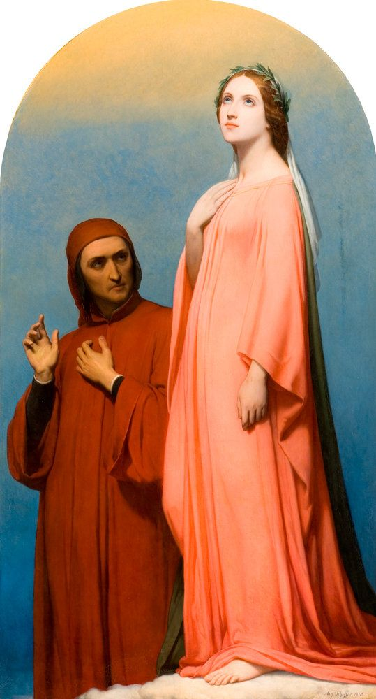 Ary Scheffer  - The Vision, Dante and Beatrice  1846