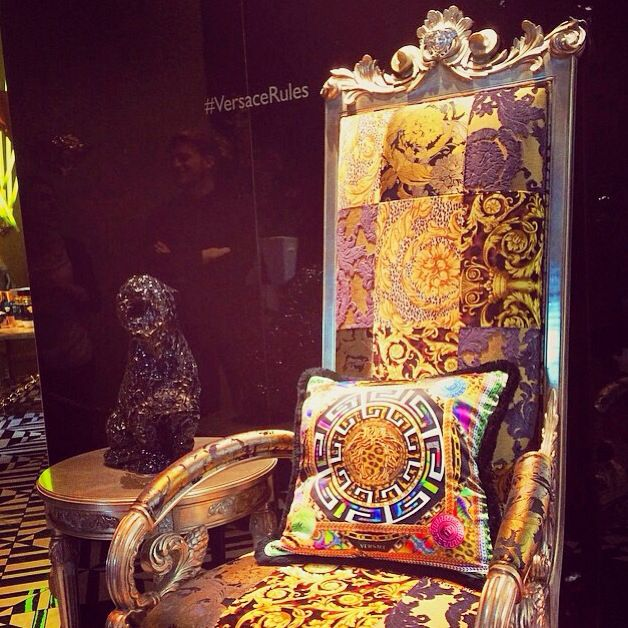 @versace_official Fuori Salone  #versace #chair #seta #colors #top #boutique #medusa #love #like #life #milan #city #icon #iphone5 #photo #VersaceRules #cool #design #fuorisalone #glam #filter #social_network #fashion #pinterest #facebook #instagram #tumblr #twitter #foursquare