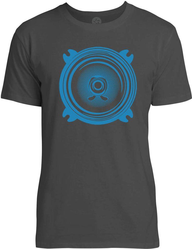 Bass Speaker Cyan Mens Fine Jersey T Shirt Products