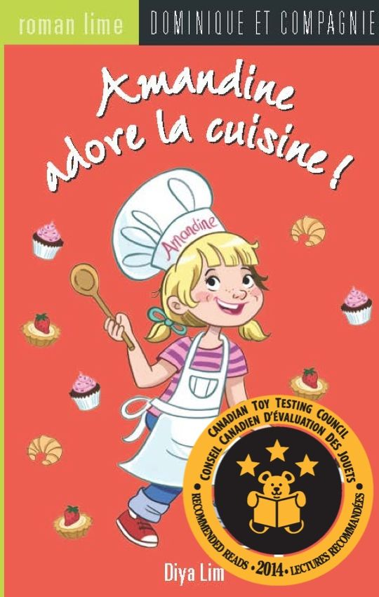 Amandine Book series Children's book Cooking Amandine loves to cook Baking Bakery Pastry shop Family ties Family business Mathematics