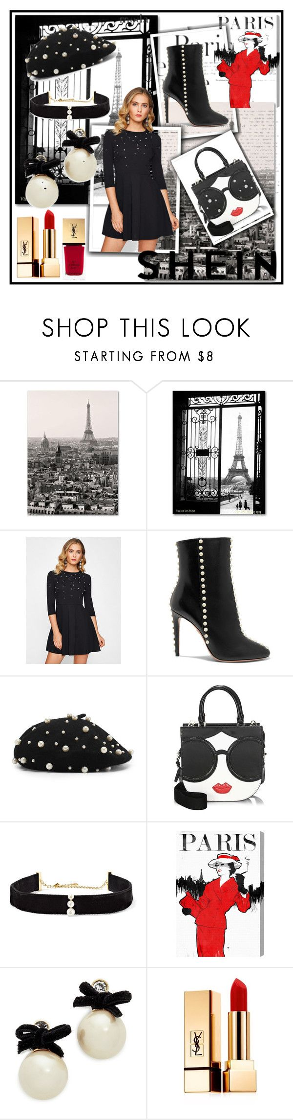 """SHEIN CONTEST👄"" by lakisha-34 ❤ liked on Polyvore featuring Trademark Fine Art, Aquazzura, Alice + Olivia, Anissa Kermiche, Oliver Gal Artist Co., Kate Spade and Yves Saint Laurent"