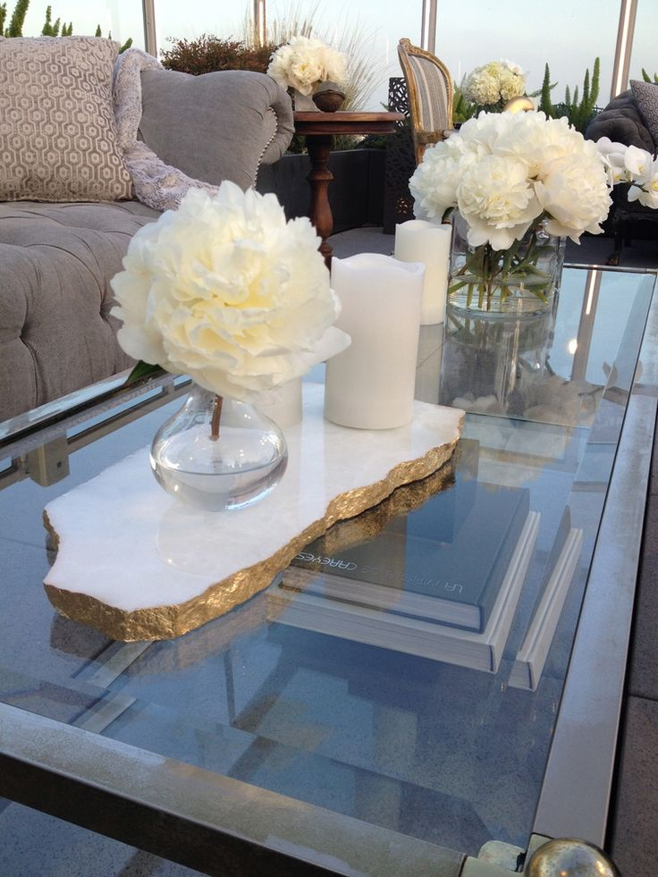 Best ideas about coffee table centerpieces on pinterest