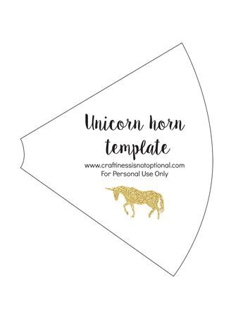 Unicorn Horn Template Rainbow Unicorn Party Diy Unicorn Horns Unicorn Horn
