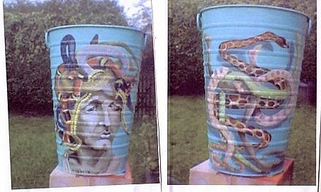 Decorated pot