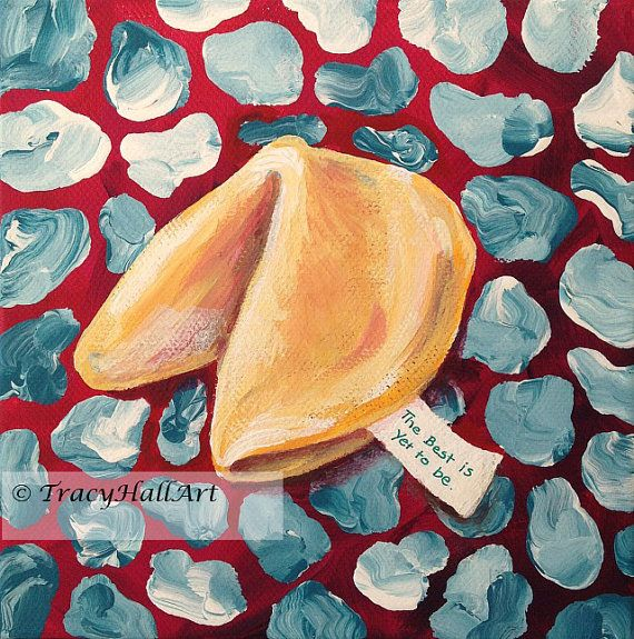 Fortune Cookie Painting Love Encouragement Art by TracyHallArt