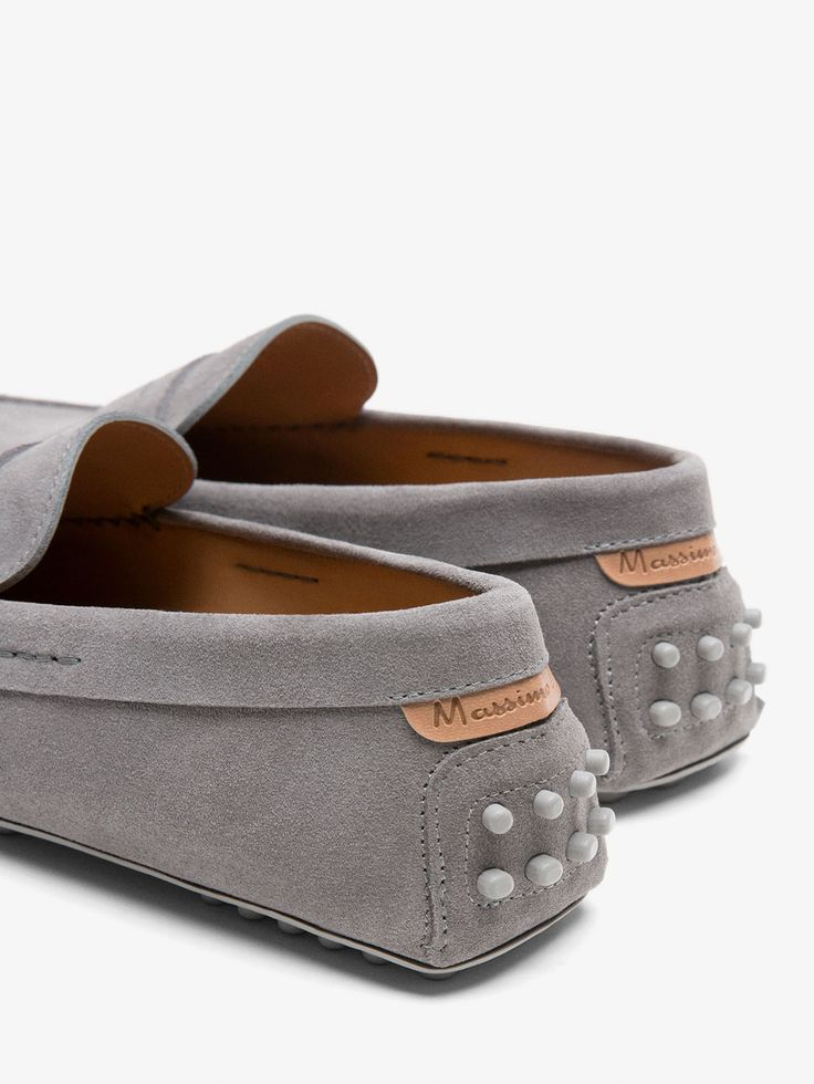 MOCASIN KIOWA PIEL GRIS ANTIFAZ de HOMBRE - Zapatos - Ver todo de Massimo Dutti de Primavera Verano 2017 por 69.95. ¡Elegancia natural!