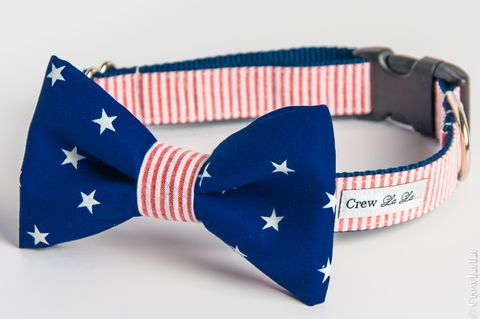 Patriot,Bow,Tie,Dog,Collar,Pets, Collar, dog, large dog, crew lala, preppy, bowtie, bow tie, girl bow, girl, bow, collar, wedding, small dog, crewlala, bow tie dog collar, wedding dog collar, birthday, birthday dog collar