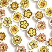 Små blomstergleder - 14 mm knapper.