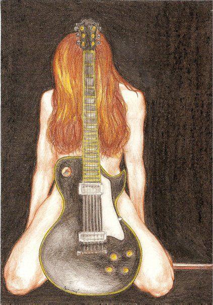 drawing Girl with guitar by Folkana.deviantart.com on @deviantART