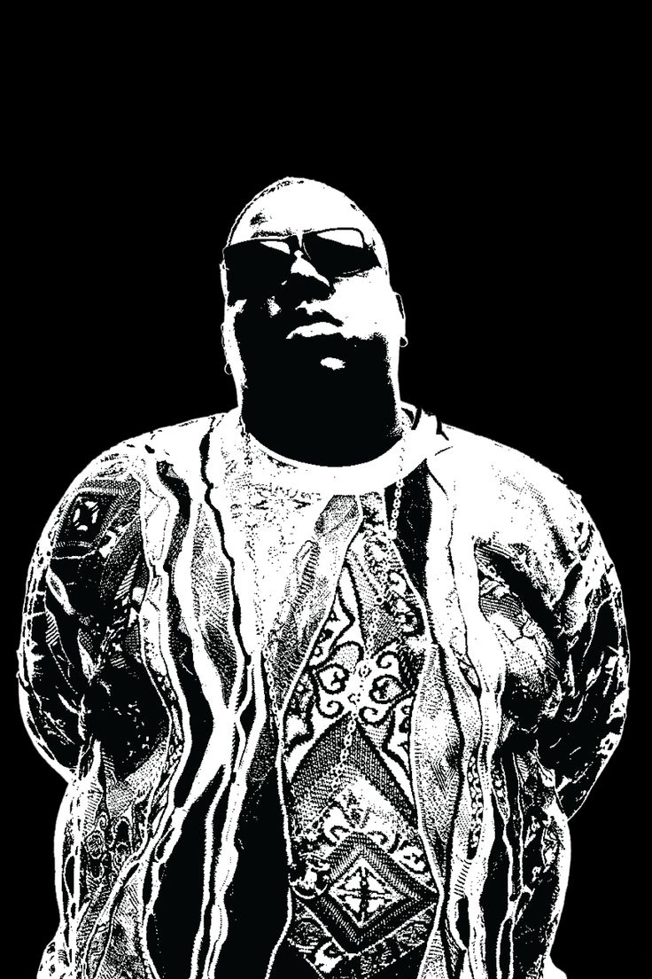 Notorious BIG / Biggie Smalls / Biggie - black and white music print by Bobby Janss