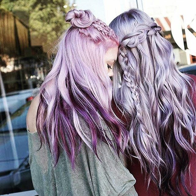 We are dying over these insane pastel hair colours!♥ Which one would you get? Lavender Pink or Lavender Silver?  Tag your bestie!