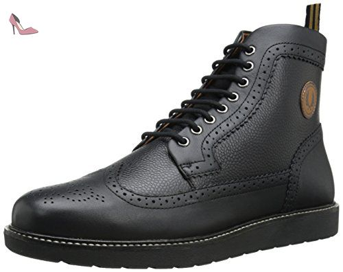 Fred Perry Northgate Hommes Bottes Black - 8 UK - Chaussures fred perry (*Partner-Link)