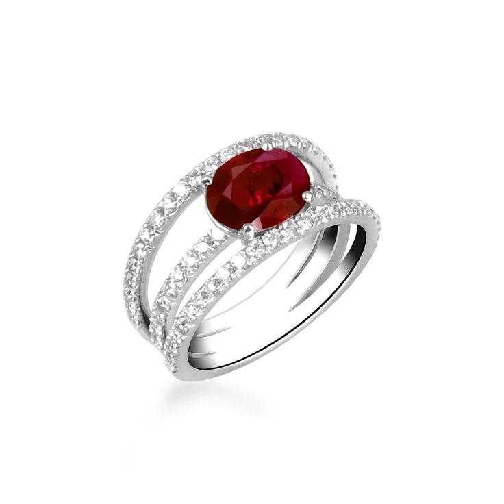 bague rubis diamant                                                                                                                                                                                 Plus