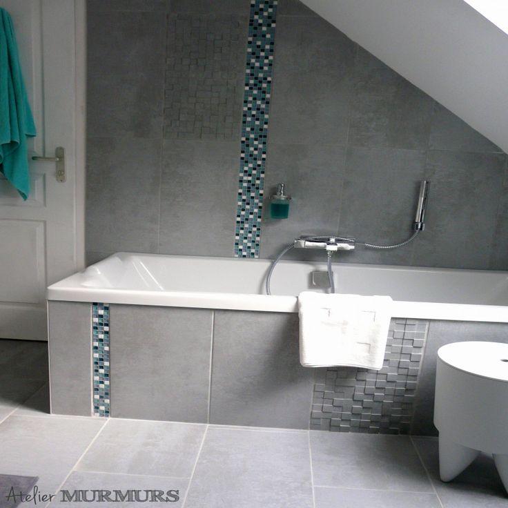 55 Carrelage Salle De Bain Bleu Canard 2019 | Salle de bain bleu, Aménagement salle de bain ...