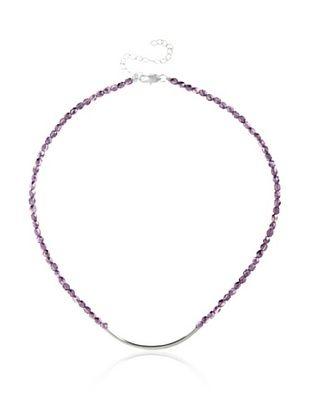 Frida Girl Dark Pink Crystal Tube Necklace