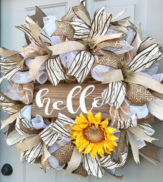 This Wreath Measures Approximately 26x26x7 And Will Be Shipped In A Large Box To Keep It From Getting Damaged However It Will Proba Mesh Wreaths Deco Mesh Wreaths Wreaths
