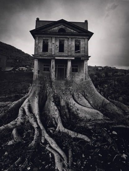 Jerry uelsmann made surreal images decades ago with some darkroom techniques he developed