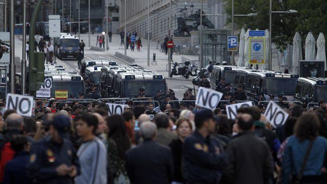 """El Diario.es - La Coordinadora 25S dice que no tiene que comunicar oficialmente la protesta del martes porque ya conocen sus """"pasos"""""""