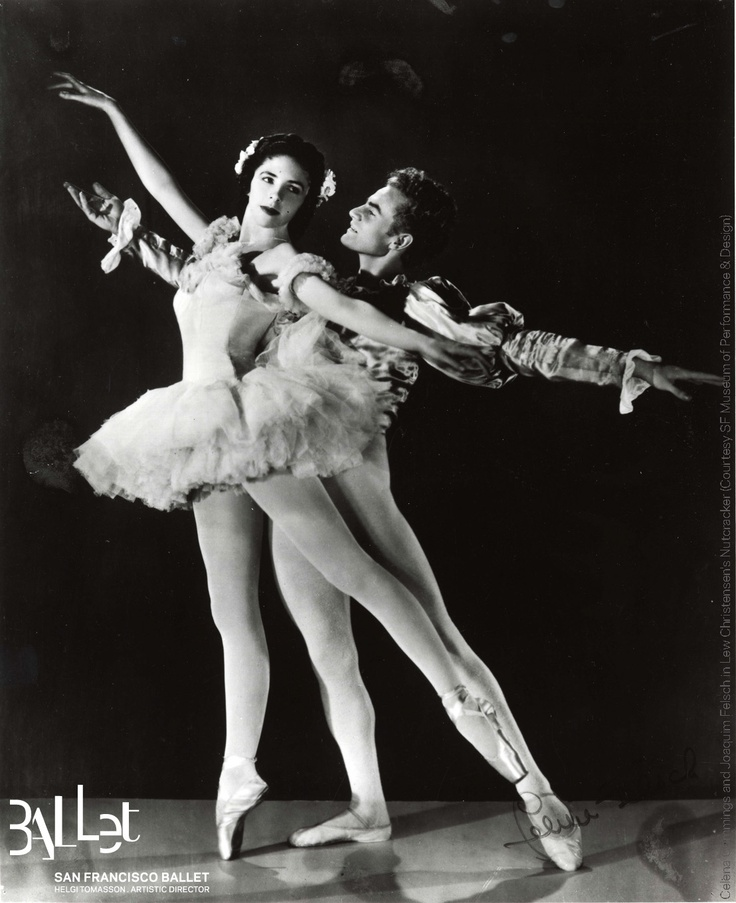 San Francisco Ballet: Celena Cummings and Joaquim Felsch in Lew Christensen's 'Nutcracker', 1944 (courtesy SF Museum of Performance & Design)