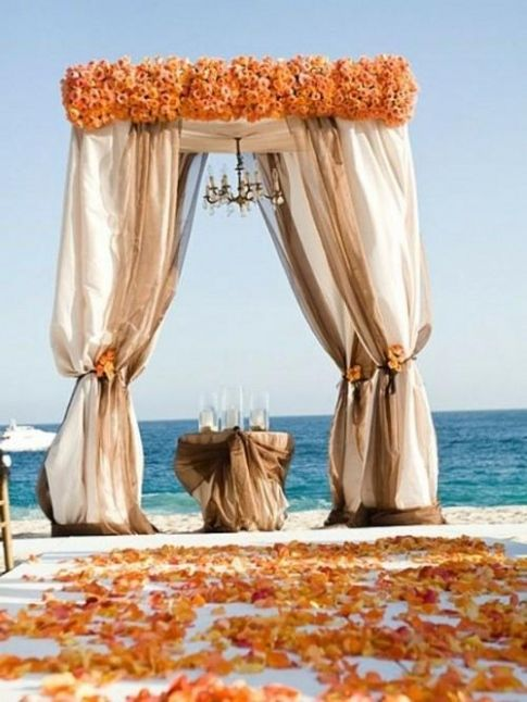 Elegant Fall Beach Wedding Color Schemes Weddings Pinterest Colors And