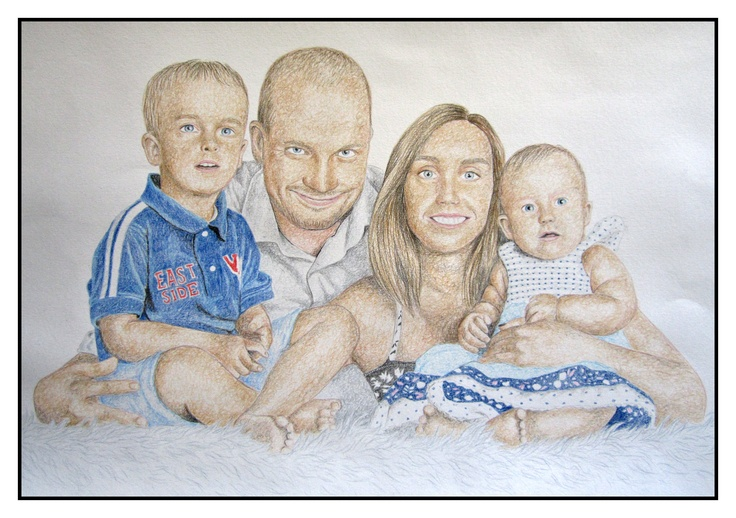 """Family"" 42x60 cm, (color pencil) by Maarja Pihl"