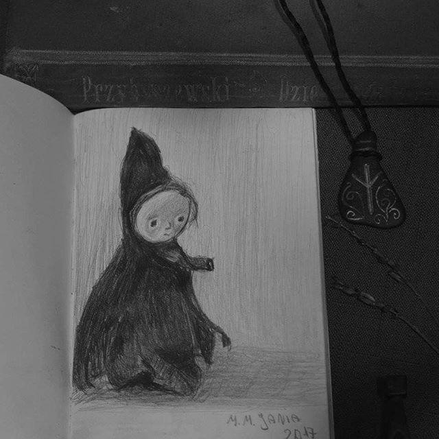 I wanted to draw Mor, but It seems that  I drew my own version of her.. #photography #drawing #sketch #minimalism #rysunek #blackwhite #rune #algiz #pencil_sketch #pencil #art #artwork