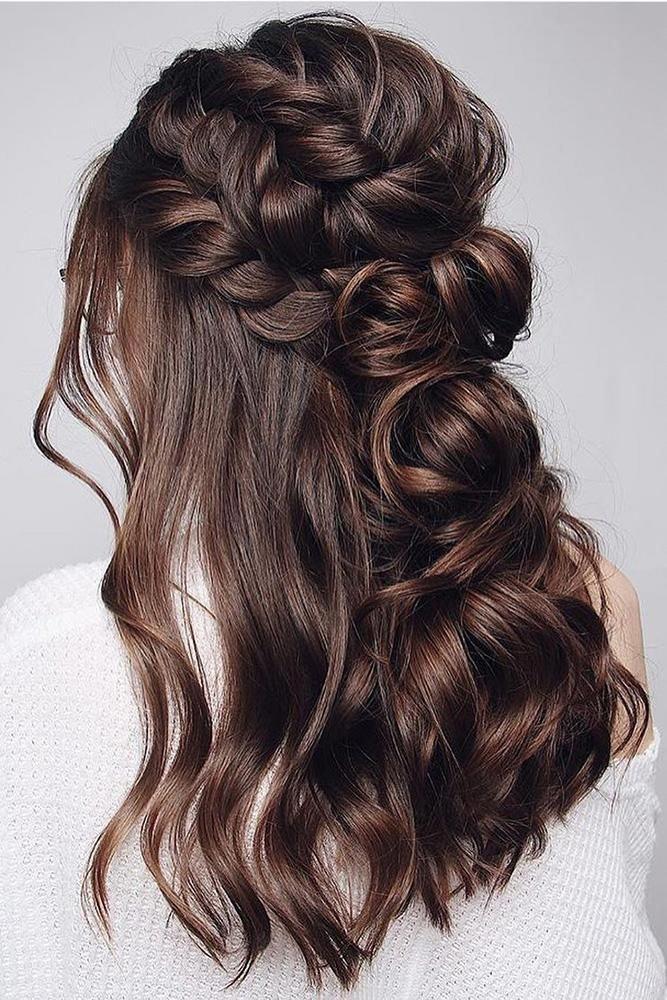 42 Half Up Half Down Wedding Hairstyles Ideas half up half ...
