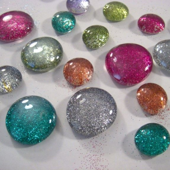 How To Make Glitter Gl Marble Magnets