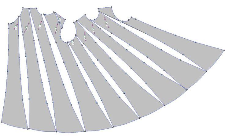 Spiral Dress - interesting way to slash and spread in patternmaking :: Vestido espiral, interesante...