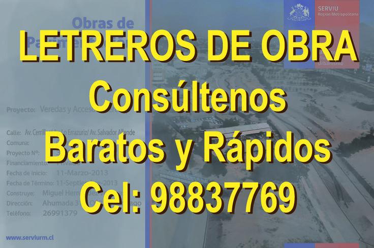 LETREROS, VALLAS, ARQUITECTOS, CONSTRUCTORAS, http://www.letreros-pendones-gigantografias-autoadhesivos-lienzos.cl