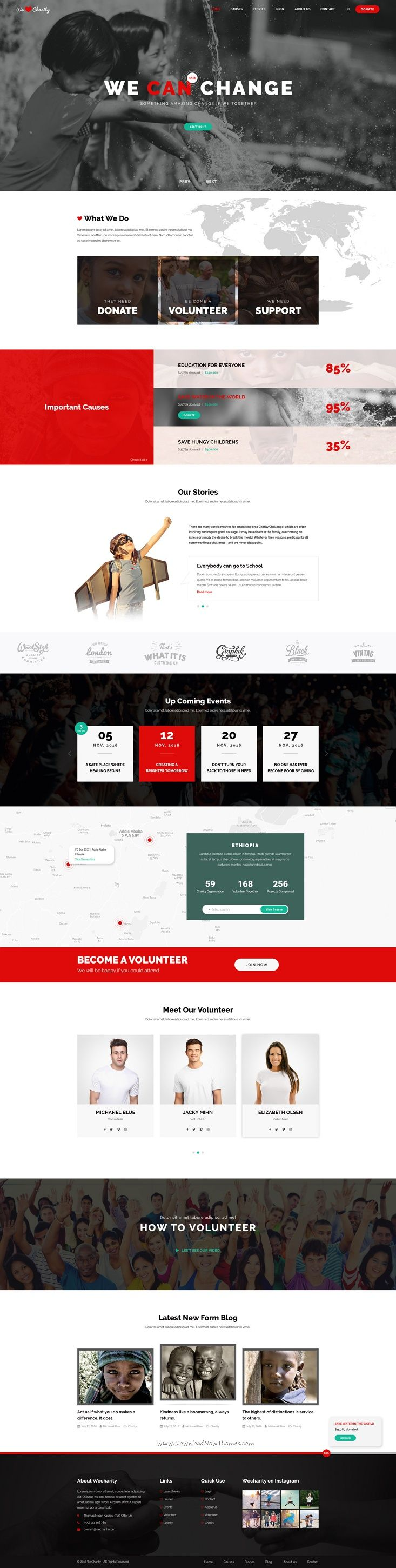 WeCharity   Charity/Nonprofit PSD Template