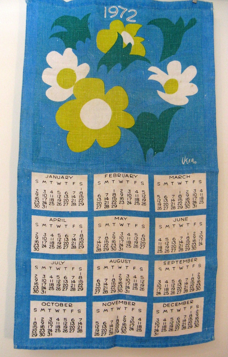 43 best calendar towel images on Pinterest | Calendar, Life planner ...