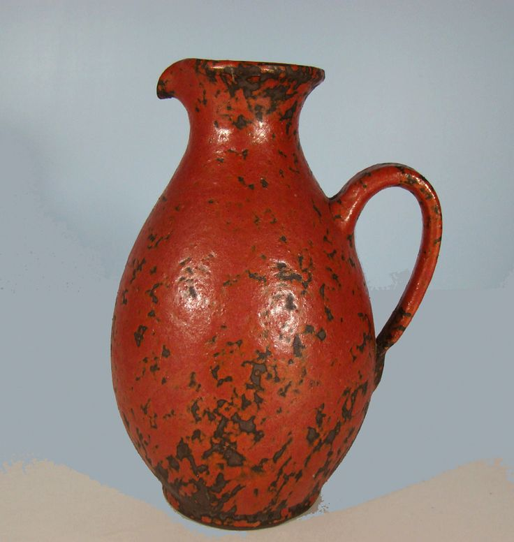 Keramik Vase HK Trenck Kellinghusener Fayencen Volcano-Glaze WGP 50er Design