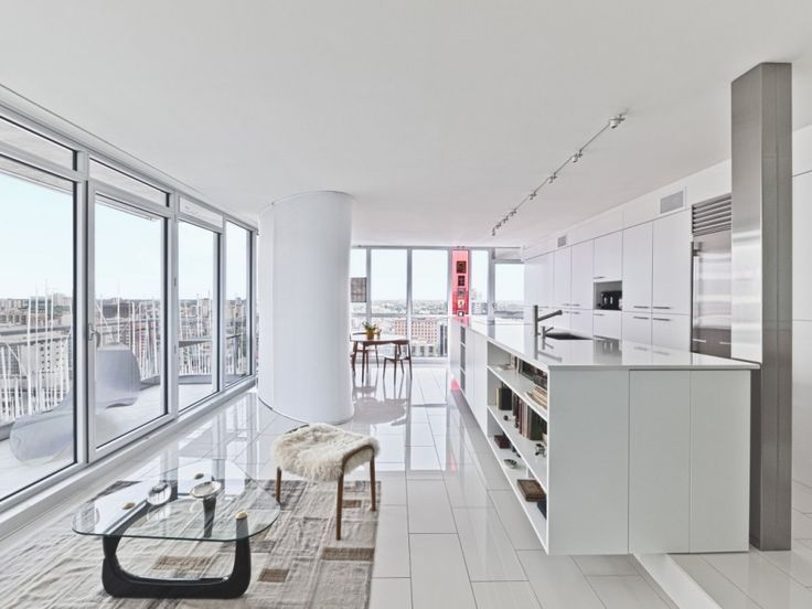 "This project called for the rethinking of an 850 square-foot apartment on the seventeenth floor of a new condominium building in the Ottawa's downtown core. The challenge of this project was to establish what ""modern, urban living"" could or should be."
