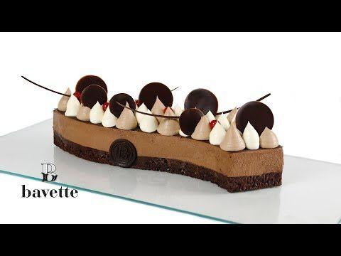 Brownie con mousse de chocolate y ganache montada - Bavette