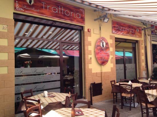 10/4/2014. Tratorria & Pizzeria Franco Franchi. Via Piazza Ballaro 10. Palermo, Sicily, Italy. Excellent lunch. Whole broiled fish, caponata.