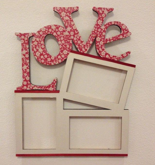 Porta Retrato em MDF... lá na loja: http://www.elo7.com.br/porta-retratos-love-para-personalizar/dp/3AF056