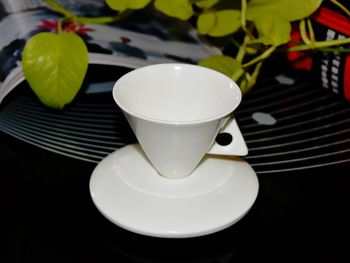 Краткая костяного фарфора чашка кофе установить белые шляпы кофе чашка с блюдцем ложка