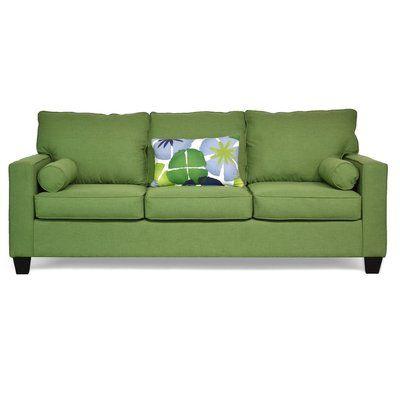 Piedmont Furniture Delilah Sofa Upholstery: Flanders Forest / Pure Petals Leaf