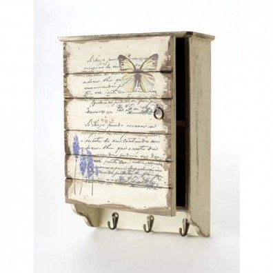 Key box with sweet butterfly decor