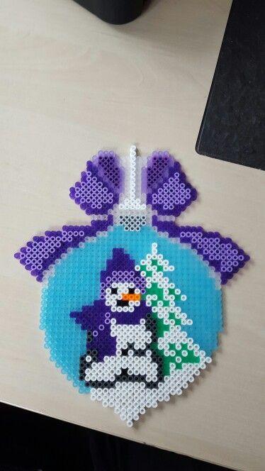Snemand i julekugle