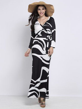 Witte maxi dress met split