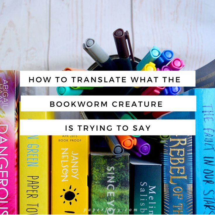 How To Translate What The Bookworm Creature Is Saying