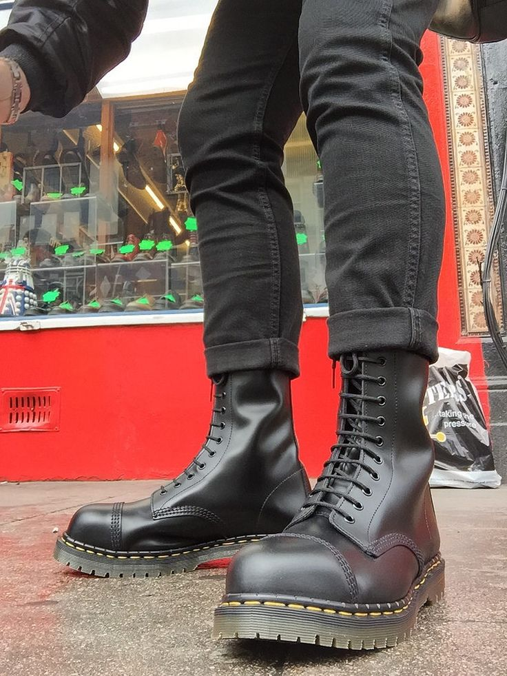 In Camden at the British boot company and just bought these 14 hole solovairs steel toe