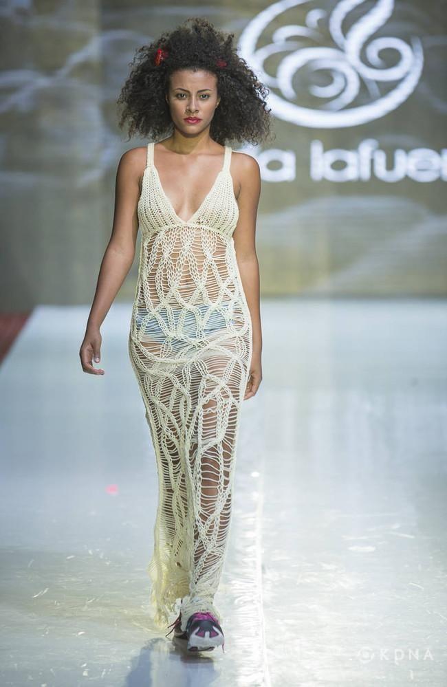 Diseño que la leonesa María Lafuente mostró en la Semana Internacional de la Moda de Colombia, en la ciudad de Bogotá, la pasada semana - JOHN CADENA
