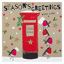 Buy Hammond Gower Postbox & Robins Christmas Card Online at johnlewis.com