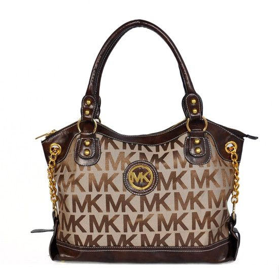 Michael Kors Jacquard Monogram Large Brown Satchels Brings You Happier Life And Makes You Relexed In The Work Time!