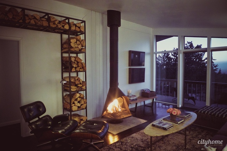 50 Best Images About Mid Century Fireplaces On Pinterest