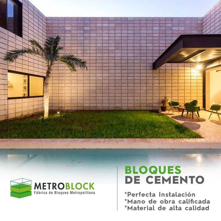Bloques de cemento, prefabricados en concreto, diseños arquitectónicos.